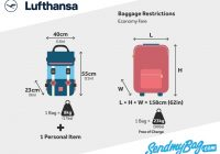 lufthansa baggage allowance for carry on and checked baggage Cabin Bag Dimensions