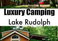 luxury camping at lake rudolph campground in santa claus Holiday World Cabins