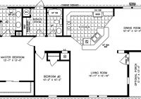 manufactured home floor plan the t n r model tnr 6481b 2 1000 Sq Ft Cabin Floor Plans