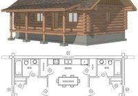 maybe widen second for bunks or add a loft space with small 2 Bedroom Cabin With Loft Plans