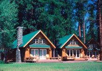 metolius river resort cabins traditional exterior Metolius River Cabins