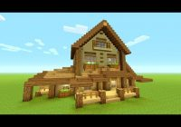 minecraft building tutorial how to build big wooden house Minecraft Rustic Cabin