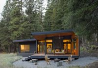 modern mountain cabin methow valley wa natural modern Small Modern Log Cabin