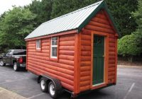 nc tiny log cabin on wheels for sale for 16k tiny house Tiny Cabin On Wheels