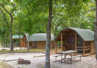 oklahoma city east koa is the best log cabin campground in Oklahoma Camping Cabins
