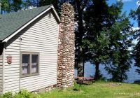 pet friendly cabin rental with fireplace and lake views in wisconsin northwoods Pet Friendly Cabins In Wisconsin