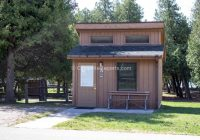 picture of the lower campground at straits state park michigan Michigan State Parks Cabins