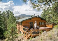 pine cone cabin mtn views walk to town private location hot tub wood fp estes park Cabins In Estes Park Colorado