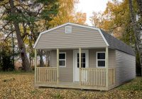 portable cabins countryside barns 12×24 Lofted Cabin