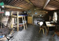 proenneke cabin interior panorama of a wood cabin with a g Dick Proenneke Cabin