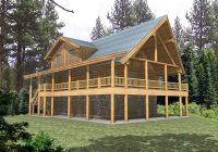 quiet meadows raised log home plan 088d 0043 house plans Log Cabin Plans With Wrap Around Porch