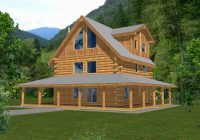 rainbow lake rustic log home plan 088d 0047 house plans Log Cabin Plans With Wrap Around Porch