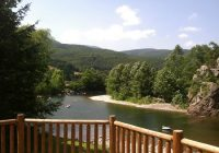 river outside the cabin picture of harmans luxury log Harmans Log Cabins