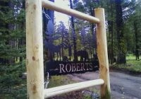 roberts cabin sign idaho in 2020 cabin signs custom Cabin Sign Ideas