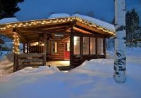 rustic cabin in the mountains at christmas cabins Log Cabin Rentals In Colorado