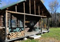 rustic camping cabin in the woods near baxter state park maine Baxter State Park Cabins