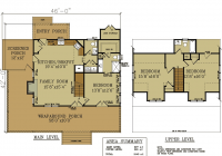 rustic cottage house plan small rustic cabin Floor Plans For Cabins