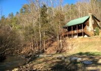 secluded cabin rental next to a babbling creek near the buffalo river in arkansas Cabins On Buffalo River