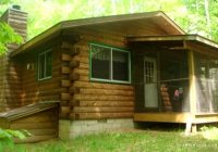 secluded rustic cabin rental in the woods of squaw lake in northern wisconsin Secluded Cabins In Wisconsin