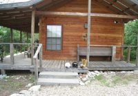 side view of cliff cabin picture of paluxy river bed Paluxy River Cabins