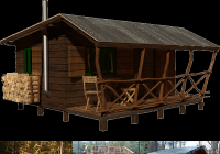 simple small cabin plans bettie Hunting Cabin Designs