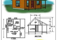 small cabin floor plans c0432b cabin plan details tiny Small Cabin Home Plans