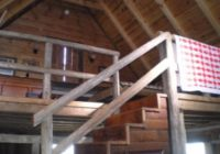 stairway to loft bedroom picture of bear creek log cabins Bear Creek Cabins Alabama