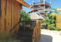 standing in our reserved parking spot those are the stairs Schlitterbahn New Braunfels Cabins