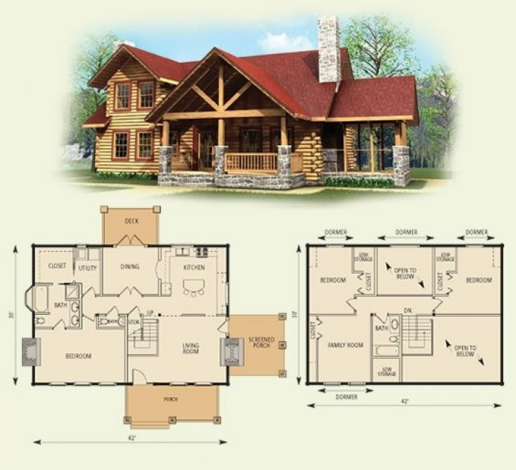 Permalink to Cozy Log Cabin Bedroom Plans Gallery