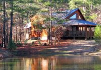 Stylish redbud retreat secluded beavers bend cabin on 40 private Beaver Bend Cabins