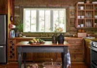 sweet rustic cabin kitchen it has a lot of modern touches Rustic Cabin Kitchens