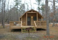 the outside of the one room cabin picture of uchee creek Fort Benning Cabins