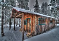 these rustic cabins in central oregon are the perfect winter Paulina Lake Cabins