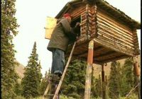 this man lived alone for nearly 30 years in the mountains of Building A Cabin In The Alaskan Wilderness