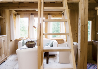 this tiny house with loft unfinished light wood everywhere Decorating A Small Cabin Loft
