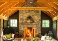timeless adirondack cabin with timber frame roof ceiling in Adirondack Cabin Decor