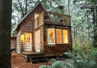 tiny cabin with upstairs balcony and small space ideas galore Tiny House Cabins