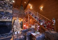 tour this giant michigan log home with 220 christmas trees A Log Cabin Christmas Collection