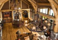 traditional spaces log cabin chinking design pictures Traditional Log Cabin Chinking