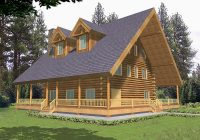 trotting trail luxury log home plan 088d 0052 house plans Log Cabin Plans With Wrap Around Porch
