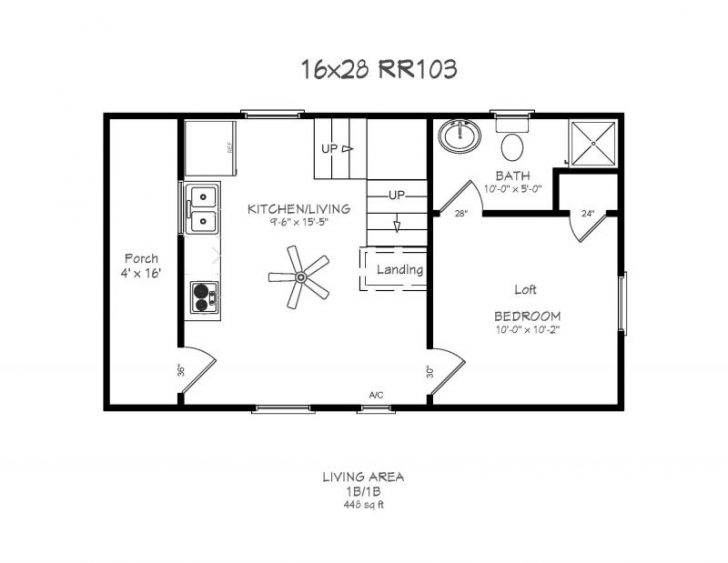 Permalink to Elegant 16×24 Cabin Layout