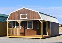urethane deluxe lofted barn cabin derksen portable buildings Lofted Deluxe Barn Cabin Building