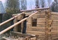 using skids to build cabin log homes building a house Log Cabin On Skids