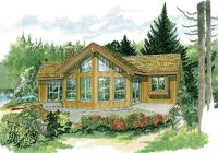 vacation homes cabins house plans home design sea232 7236 Wood Cabin House Plan