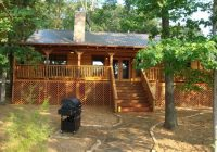 view of back porch of the texas star lake house picture of Deer Lake Cabins Texas
