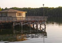 wake up over the water in these cabins over the lake at Santee Cooper Lake Cabins