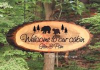 wood signs ideas red cedar property markers cabin signs Cabin Sign Ideas